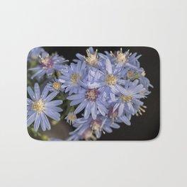 Tiny Blue Wood Aster Flowers Bath Mat