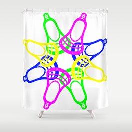 Lacrosse Neon Heads Shower Curtain