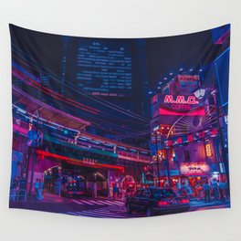 Neo Tokyo Wall Tapestry