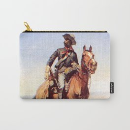 "Frederic Remington Western Art ""Buffalo Soldier"" Carry-All Pouch"