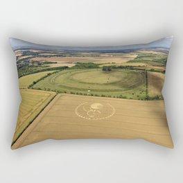 Crop Circle 2016 - Figsbury Ring, Wiltshire Rectangular Pillow