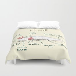 Anatomy of an Axolotl Duvet Cover