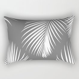 Dark Gray Tropical Pattern Rectangular Pillow