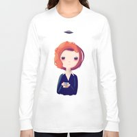 dana scully Long Sleeve T-shirts featuring Dana by Nan Lawson