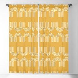Rainbow balance - yellow Blackout Curtain