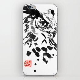 chouette owl iPhone Skin