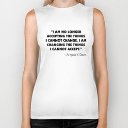 Change What You Cannot Accept - Angela Y. Davis Biker Tank
