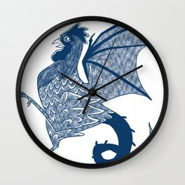 Year of the Cockatrice (Porcelain) Wall Clock