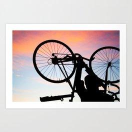 Bike Silhouette Art Print