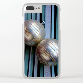 Worth Their Weight In A Gold Stripey Way Clear iPhone Case