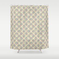 et Shower Curtains featuring cercles et points by Sébastien BOUVIER