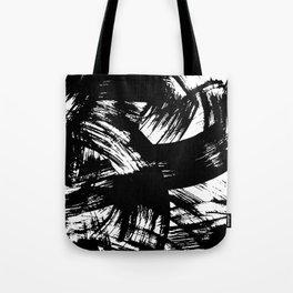 Black hand painted watercolor brushstrokes pattern Tote Bag