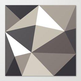 black and white trigon Canvas Print
