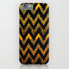 black and gold chevron iPhone 6s Slim Case