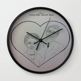 In Memory of President & Mrs. Ronald W. Reagan Wall Clock
