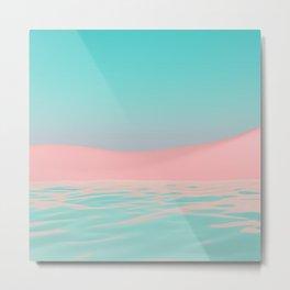 Pink Beach Metal Print