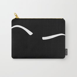 Raised Eyebrow - White on Black Carry-All Pouch