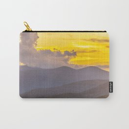 Utah Wasatch Mountains Sunset Print Carry-All Pouch