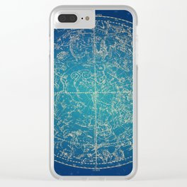 Zodiac and Stars Clear iPhone Case
