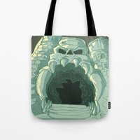 castle Tote Bags featuring castle by neicosta