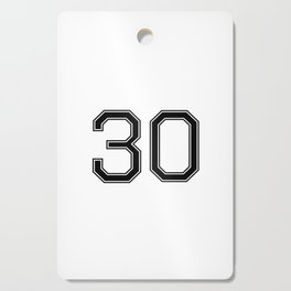 Number 30 American Football, Soccer, Sports Design Cutting Board
