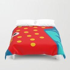 Red Fish illustration for kids Duvet Cover