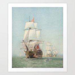 Vintage Ship Art Art Print