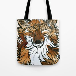 Sleepy Tea Fox Tote Bag