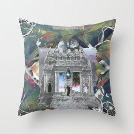 Cosmic Temple Throw Pillow