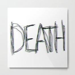 Trippy Death Metal Print