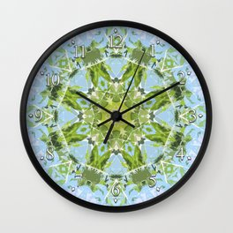 Green Cutout Mandala Wall Clock