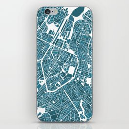 Brussels City Map I iPhone Skin