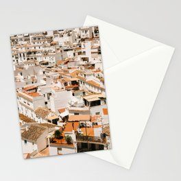 View on Mijas, Spain   Fine art travel   Art in Europe   Photography print for on the wall Stationery Cards