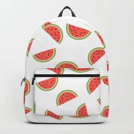 WATERMELON SLICES WITH SEEDS FRUIT FOOD PATTERN Backpack
