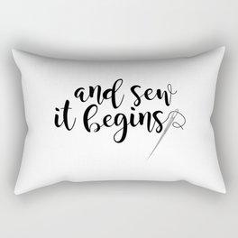 And Sew It Begins Rectangular Pillow