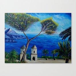 All Blue On Amalfi Coast Italy Canvas Print
