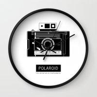 polaroid Wall Clocks featuring POLAROID by vetpan