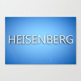 Heisenberg. Canvas Print
