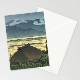 Vintage Japanese Woodblock Print Art By Kawase Hasui - Inariyama, Nagano  Stationery Cards