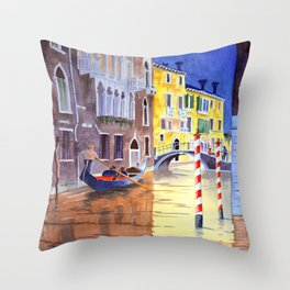 Reflections Of Venice Italy Throw Pillow
