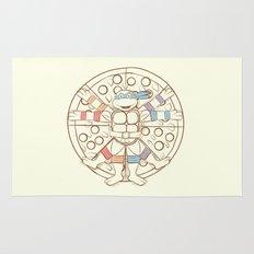 Vitruvian Turtle Rug