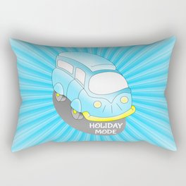 Road Trip Blue Van Rectangular Pillow