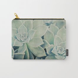 Botanical -- Jade, Mother-of-pearl, Ghost Plant Leaves Carry-All Pouch