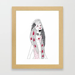 Leo / 12 Signs of the Zodiac Framed Art Print