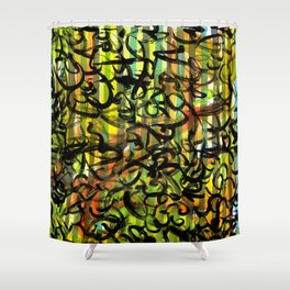 Squiggles on Multi Shower Curtain