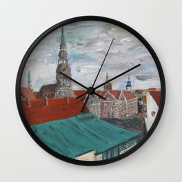 St Peter's Cathedral from City Hall Wall Clock