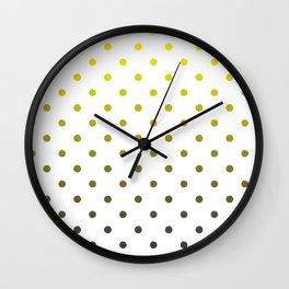 Gray and yellow dots Wall Clock