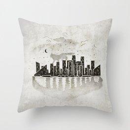 Rooftop Killer Throw Pillow