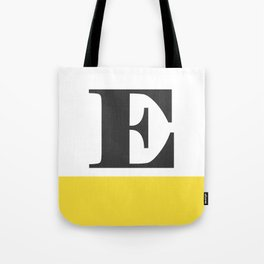 Monogram Letter E-Pantone-Buttercup Tote Bag