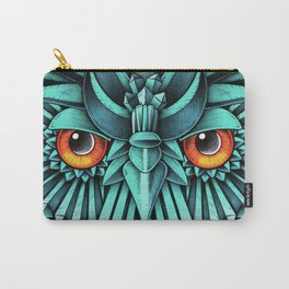 Crystal Owl Blue Carry-All Pouch